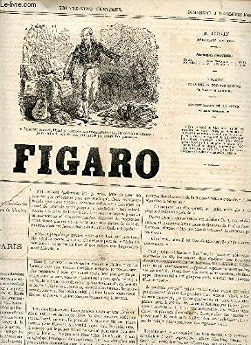 LE FIGARO - 1ere ANNEE - 1088 - 20 JUILLET 1865 / LES HASARDS DE LA PLUME - LES CHASSES DU FIGARO - LA BANQUE ET LES BANQUISTES - L