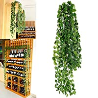 12 pc. Green Artificial Ivy Leaf Garland Garland Artificial Plants Decoration