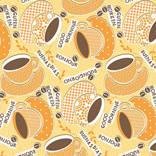 Sovie HORECA | Serviette Kaffee Ole | Gelb-Orange | Linclass Airlaid 40 x 40 cm | Passend zum Kaffee...
