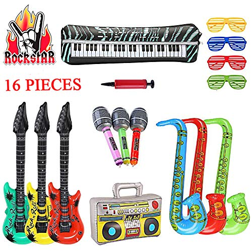 SUPERSUN 16PCS Inflatable Guitar...