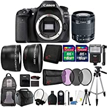 Canon Eos 80D 24.2MP Digital SLR Camera With 18-55mm Lens And 24GB Accessory Bundle