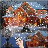 Projecteur Led Noël DYDYLU Dynamique Chute de neige Lumière Projecteur Télécommande Rotation Lampes étanche Extérieur LED Étanche IP65