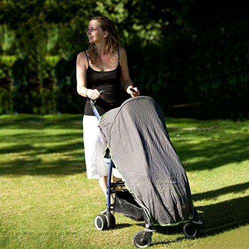 Koo-di Sun and Sleep Stroller Cover (Charcoal Grey)