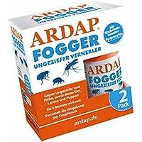 ARDAP Fogger 2 x 100ml - Effektiver Vernebler zur Ungeziefer- & Flohbekämpfung für Haushalt & Tierumgebung - für Räume…