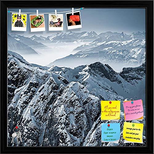 Artzfolio Swiss Alps View From Mount Titlis Switzerland Printed Bulletin Board Notice Pin Board | Black Frame 24 X 24Inch 100 Bl Mount