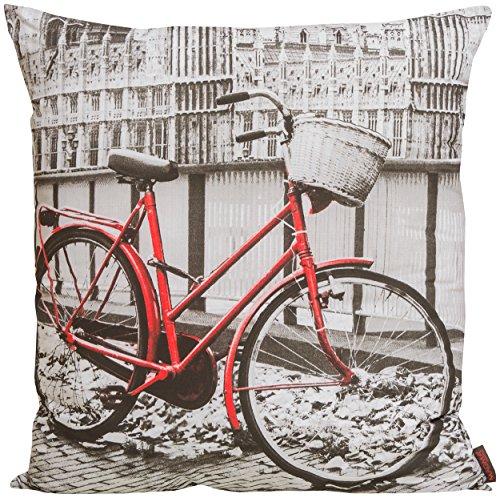 Magma Veicolo cuscino circa 60x 60cm avvolgente imbottito in eleganti stampa digitale in 3Designs, Tessuto, 003 Bike, B/T ca. 60/60 cm