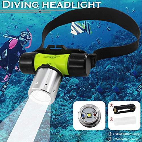 Percetey Wiederaufladbare, Super Bright, Waterproof,Tauchlicht Super Helle LED (Lebensdauer kann 100.000 Stundenerreichen) Unterwasser Wasserdichte Tauchlampe für Schnorchler, Tauchen, Outdoor, Abend