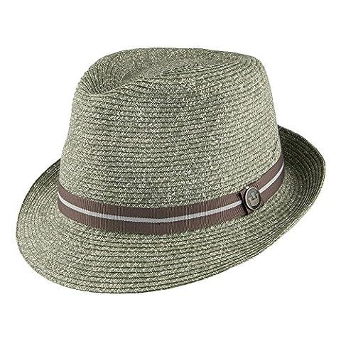 Goorin Bros. Keep It Real Toyo Straw Trilby Hat - Green MEDIUM