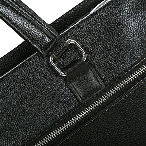 Yy.f Neue Art Und Weise Der Klassischen Männer Rucksäcke Handtaschen Business Casual Taschen Aktenkoffer Computer-Taschen Volltonfarbe Tasche Black