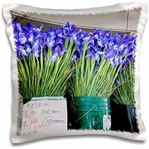 Danita Delimont - Markets - WA, Seattle, Pike Place Market flowers - US48 JWI2208 - Jamie and Judy Wild - 16x16 inch Pillow Case (pc_96183_1)