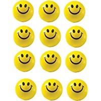 Glitter Collection ® Smiley face Squeeze Ball Soft Ball Pack of 12 Ball