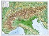 Alpen klein 1:2.4MIO: Reliefkarte vom Alpenbogen (Tiefgezogenes Kunststoffrelief)
