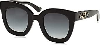 Gucci GG0208S 001 Occhiali da sole, Nero (1/Grey), 49 Donna