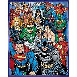 1art1® DC Comics Póster Mini con Marco (Plástico) - Superhéroes Justicieros (50 x 40cm)