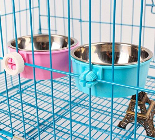Futternapf Katze,Legendog Näpfe Edelstahl Hund Katze Napf Näpfe Zum Einhängen für Hunde Katzen Hamster Kaninchen Vögel (Blau) - 5
