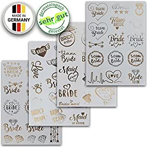 Addio Al Nubilato Gadget | Tatuaggi Temporanei Bride To Be | Accessori Kit Per Spose – di Ahimsa Glow®