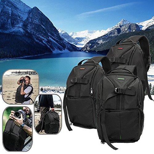Bazaar Nylon exterior cámara backapack mochila caso bolso para viaje