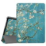 Fintie Huawei Mediapad T3 10 Hülle Case - Ultra Dünn Superleicht Flip Schutzhülle mit Zwei Einstellbarem Standfunktion für Huawei MediaPad T3 (9,6 Zoll) 24,3 cm Tablet-PC, Mandelblüten