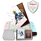 NFC Tag Game Cards per the Legend of Zelda Breath of the Wild Switch/Wii U - 24 pezzi di carte con portacarte in pelle