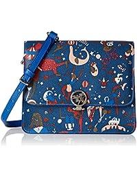 Womens Cross-Body Bag blue Blue of Prussia 20 cm Piero Guidi