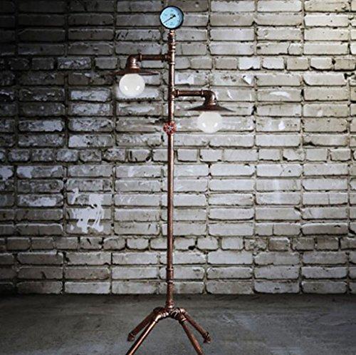 Lámpara de pie vintage Lámpara de piso de estudio de sala de estar de la lámpara de pie de hierro forjado europeo retro vertical Lámparas de hogar