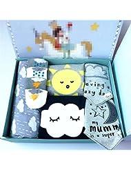 SHISHANG Ensemble cadeau pour bébés Boîte cadeau Boy Baby Gifts Pour 0-18 mois Newborn 100% coton Four Seasons Gift Bag