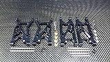Team Losi Mini 8ight Aggiornamento Parti Aluminium Front + Rear Suspension Arms - 2Prs Set Black