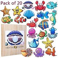 AIM Cloudbed - 20 pegatinas antideslizantes para baño para niños, pegatinas de baño para bañera, adhesivas, resistentes, perfectas para niños y bebés