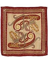 Carré en soie design paisley Foulard pour femme foulards cadeaux 106 x 106 cm