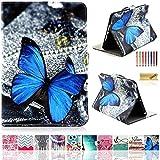 iPad Air Hülle, iPad Air 1st Generation Hülle, Dteck(TM) Dünne Ständer Hülle mit [Mehrfachwinkel] [Eckschutz] [Kartensteckplätze] Smart Cover für Apple iPad Air/ iPad 5, Blau Schmetterling