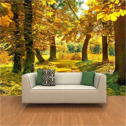lder Tapete Dekorationen Aufkleber Wand Goldener Hain Schlafzimmer Wohnzimmer Sofa Art Kinderküche (W) 400x(H) 280cm ()