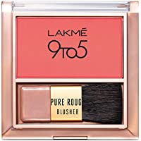 Lakmé 9 To 5 Pure Rouge Blusher, Coral Punch, 6 g