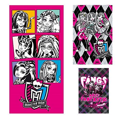 Monster High Geschenk Set 3-tlg. Strandtuch, Handtuch, Gästetuch