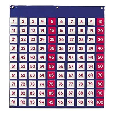 Learning Resources- Hundred Pocket Chart Panel de Cien Bolsillos, Color (LER2208) de Learning Resources