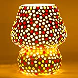 Mejilla Antique Look Decorative Mosaic Table Lamp / Light Lamp / Night Lamp/ Fancy Light / Lamp Shade / Vintage Light / For Drawing Room / Dining Area / Bedroom / Party Decoration / Bedside (Size- 16 X 16 X 18 Cm) BE087