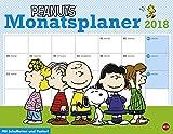 Peanuts Monatsplaner - Kalender 2018 - Heye-Verlag - Wandplaner mit Schulferien und Poster - 44 cm x 34 cm