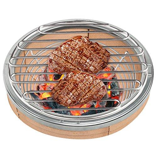 SELEWARE SUS304 Edelstahl Grillrost Hohe Hitze Holzkohle Feuerrost für großen großen grünen Ei-Grill, Vision Grills, Durchmesser 22,86CM