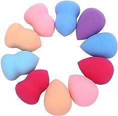 Tefamore 10pcs Schwämme Pro Schönheit makelloses Make-up Blender Foundation Blätterteig Multi Form