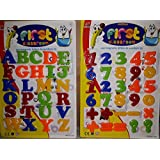 PLAY DESIGN Large Size Educational Magnetic Alphabets & Numbers For Kids (MULTI COLOR)