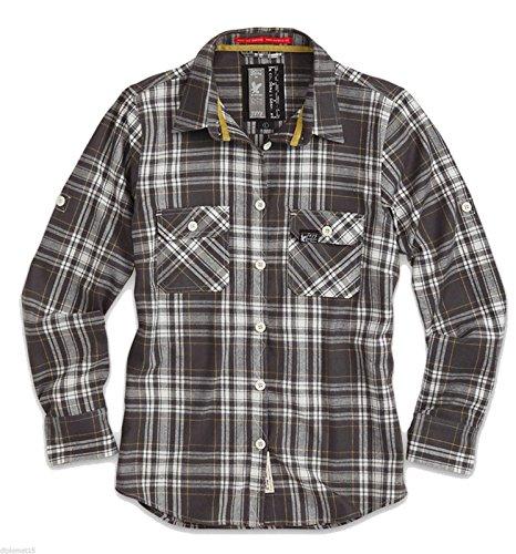 Lumberjack, Bluse , Langarm, Grau, (Holzfäller Kostüm Frauen)
