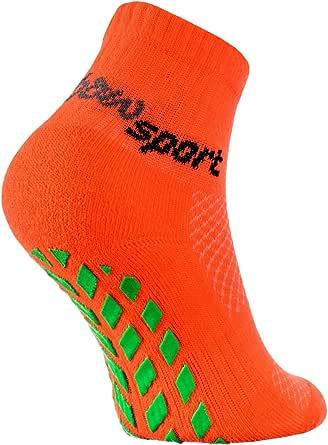Rainbow Socks - Ragazza Ragazzo Neon Calze Sportive Antiscivolo
