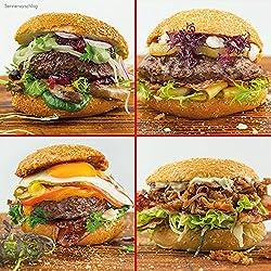 OTTO GOURMETs Burgerwelten Paket - Wagyu/US Black Angus/Bison / Pulled Pork