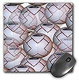 3dRose LLC 8 x 8 x 0.25 Inches Mouse Pad, Soccer Balls (mp_907_1)