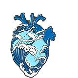 Monili del Regalo Organo dello Smalto del Cuore Pin Cuore Coraggioso Spille Bag Abbigliamento Lapel Pin Badge Medical per la