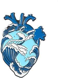 Monili del Regalo Organo dello Smalto del Cuore Pin Cuore Coraggioso Spille Bag Abbigliamento Lapel Pin Badge Medical per la Decorazione