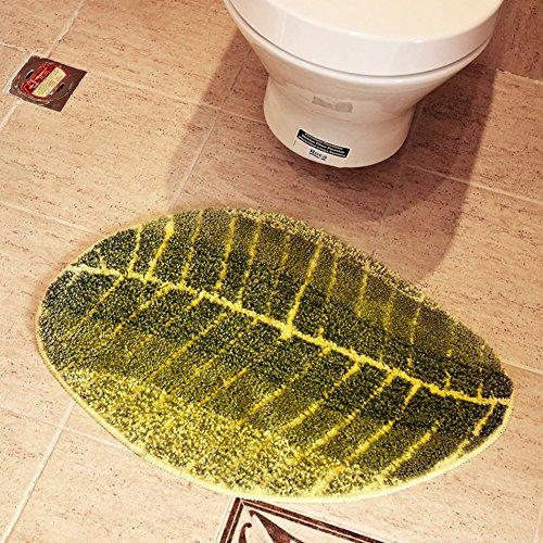 Private home textiles Dekorative teppiche Door mats Foot pad Badezimmer mit Wasser-Absorptionsfähigkeit Nicht-Slip carprt Leaves Teppich-A 70x140cm(28x55inch)