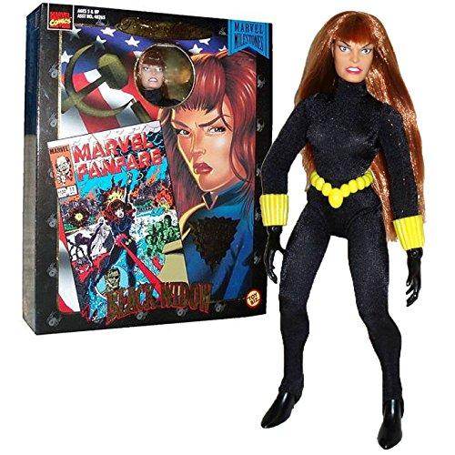 Marvel anno 1998 Toybiz fumetti serie famosa copertina da 8 pollici di altezza ultra azione poseable figura - vedova nera con autentici costumi in tessuto