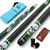 CUESOUL 57 inch 19/20/21 oz 1/2 Maple Pool Cue Stick Kit-Rockin Series 19oz