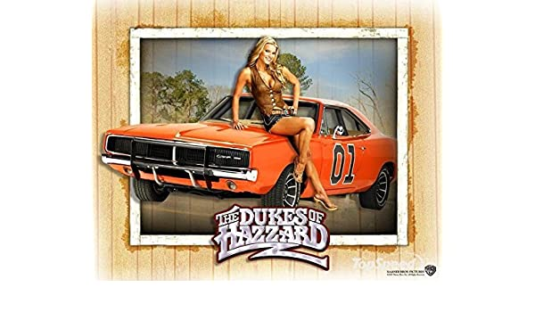 Pleasant General Lee The Dukes Of Hazzard Dodge Challenger Edible Image Personalised Birthday Cards Arneslily Jamesorg