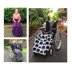 BundleBean – Fußsack für Rollstühle für Erwachsene – Fleece-Futter – wasserdicht – Universalgröße Einfach zu befestigen, mit kompaktem Packbeutel zum Aufbewahren. In verschiedenen Designs erhältlich